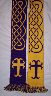 cross and knotwork stole