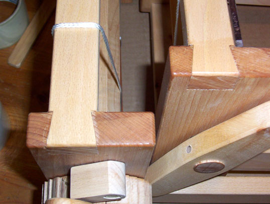 closeup of dovetail joints